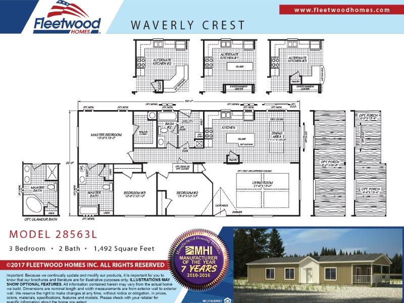 floorplan waverly crest - Mobile Home Lot